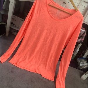 Neon Orange long sleeve top!